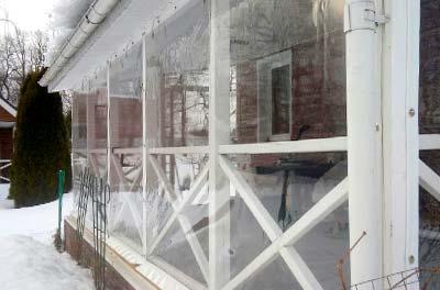 Мягкие окна на беседке